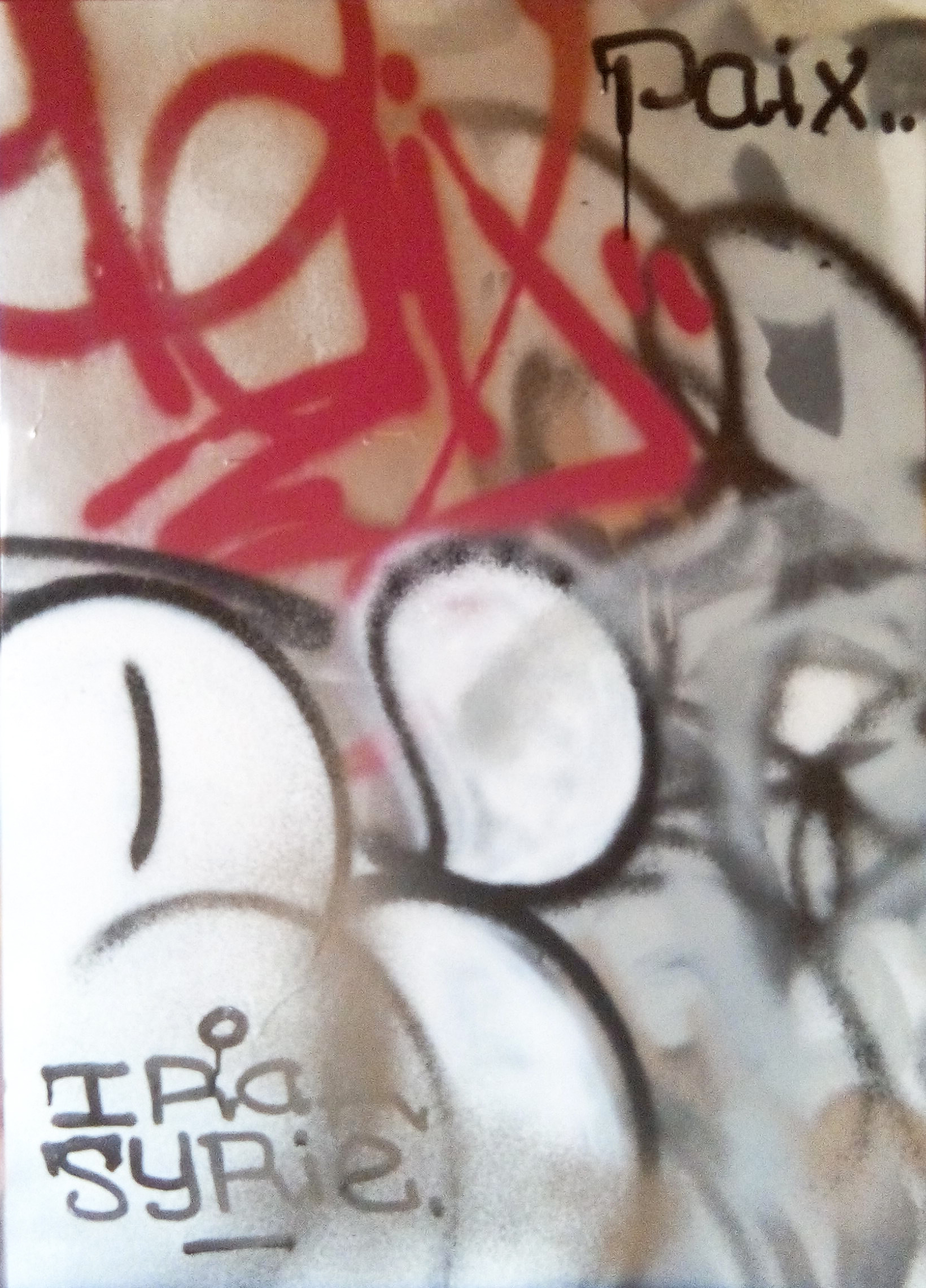 Paint on canvas urban contemporary art